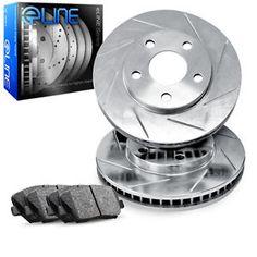 a 2007 2011 lexus gs350 front eline slotted brake disc rotors ceramic brake pads