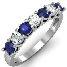 1.00 Carat (ctw) 14K White Gold Round Blue Sapphire and White Diamond Ladies 7 Stone Bridal Wedding Band Anniversary Ring 1 CT (Size 6.5) null http://smile.amazon.com/dp/B00BP0W6Z6/ref=cm_sw_r_pi_dp_OyXLtb0T88T9JS2W