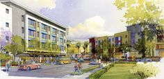 COMM22 is a mixed-use, transit oriented development combining affordable family and senior rental housing with day care facilities, commercial and retail space, office space, live/work lofts and for-sale townhomes. The Logan Heights (southeast San Diego) development will also include enhanced plaza areas for public gathering, strong pedestrian connectivity throughout the site and convenient access to public transportation.