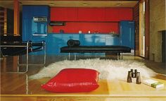 1975 HUGE MID CENTURY modern Interior Design Inside by interior design design decorating before and after room design Beautiful Interior Design, Modern Interior Design, Small Apartment Design, Apartment Ideas, 1975, Prefab Homes, Cool House Designs, Mid Century Design, Scandinavian Design