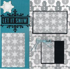 2 page Scrapbooking Layout Kit Let it Snow by CropALatteToGo, $10.00
