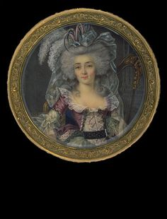 Lady in Fashionable Dress    circa 1785