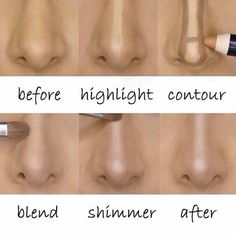 Highlights contour your nose