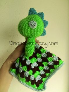 Sleepy Dinosaur Lovie crochet PATTERN by Dinobabies on Etsy, $3.50
