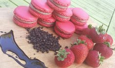 Strawberry , Balsamic and Black Pepper Macarons