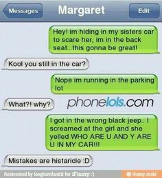 serves her right for leaving her car unlocked..... ;) and, . . . histaricle? really?