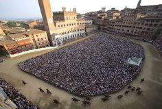 Traditional horse race in Siena / Tuscany / Italy