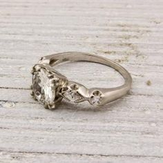 1.04 Carat Old European Cut Diamond Engagement Ring | Shop | Erstwhile Jewelry Co.