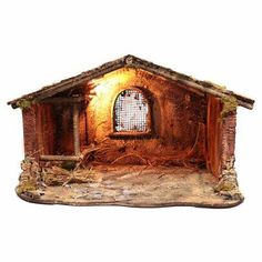Empty hut with fence cm Christmas Crib Ideas, Christmas Manger, Christmas Items, Christmas Holidays, Christmas Decorations, Xmas, Christmas Village Sets, Nativity Stable, Medieval Houses