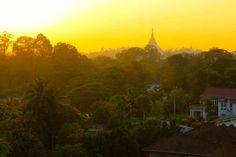 Sunset, Yangon