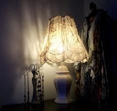 shabby chic lamp shade - Google Search not a fire hazard?