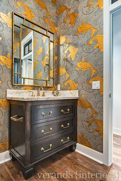Hillhurst {Custom} Powder Room // Veranda Estate Homes & Interiors