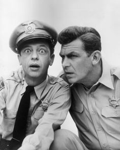 Don Knotts and Andy Griffith of the Andy Griffith Show