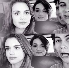 Holland Roden, Chrystal Reed, Dylan O'brien (probably spelled something wrong)
