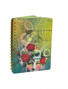 Papaya Art Spiral Notebook - Inventor