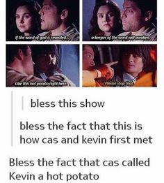 (i genuinely thought this was a gag real but noooo, it was better) Supernatural