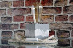 Concrete Edison Lamp - Concrete Table Lamp - Unique Lamp - Housewarming Gift - Concrete Desk Lamp - Mid Century Modern - Industrial Lighting #ConcreteTableLamp #MidCenturyModern #ModernDeskLamp #ConcreteDeskLamp #HousewarmingGift #ModernOfficeDecor #ConcreteLight #ConcreteLamp #EdisonLamp #IndustrialLighting