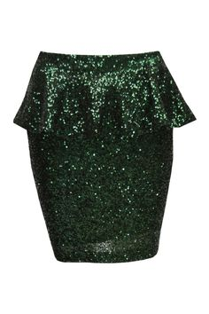 Pop Couture - Mara Sequinned Peplum Skirt In Green, £25.00 (http://www.popcouture.co.uk/clothing/skirts-shorts/mara-sequinned-peplum-skirt-in-green/)