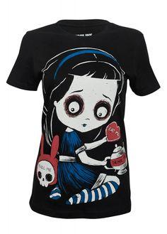 Akumu Ink Temptation Of Alice T-Shirt | Attitude Clothing