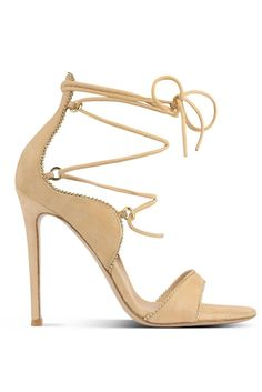 Gianvito Rossi Nude Sandal RTW Spring 2015 [Courtesy Photo] #Shoes #Heels