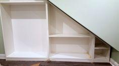 How to make a Classy High Gloss Bespoke Loft Wardrobe - IKEA Hackers Ikea Wardrobe Hack, Ikea Pax Closet, Attic Wardrobe, Wardrobe Storage, Pax Wardrobe, Attic Closet, Closet Space, Wardrobe Ideas, Living Room Tv Cabinet