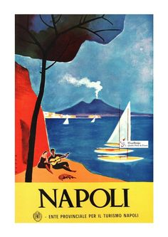 POSTER ITALIANO vintage di viaggio: Naopli-