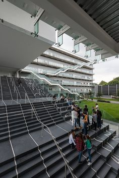 Enrique Norten and his studio TEN Arquitectos have completed a new university campus in Mexico City made up of intersecting blocks that overlook a central lawn and staircase.