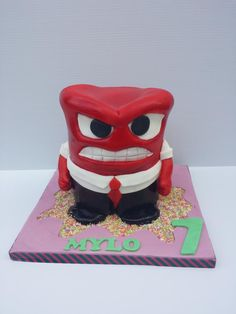 Inside out anger cake - Cake by Cacalicious