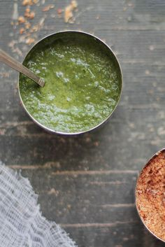 Green Coriander Chutney:  1 cup coriander leaves,   1 tsp cumin powder, freshly ground from roasted,   cumin seeds,   1 green chilI,   1/2 inch ginger,   1 tsp lemon juice,   Salt to taste