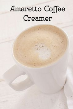 Homemade Amaretto Coffee Creamer From Scratch.