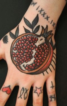 Image result for pomegranate tree tattoo