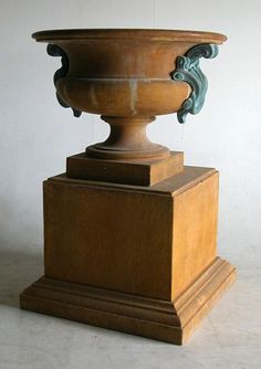 GFRC / GRC URN acid stained including handles