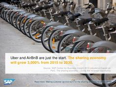 Uber and AirBnB are just the start. The sharing economy will grow 3,000% from 2015 to 2030