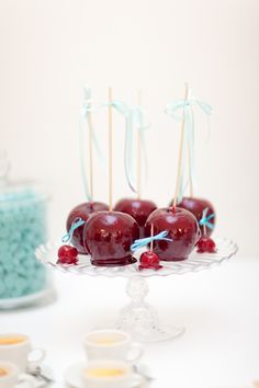 Wedding Inspiration & Ideas. candy apples