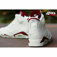 The Nike Air Jordan 6 Maroon is coming in less than two weeks and we've got an exclusive set of images you'll want to see. KicksOnFire.com (link in bio)