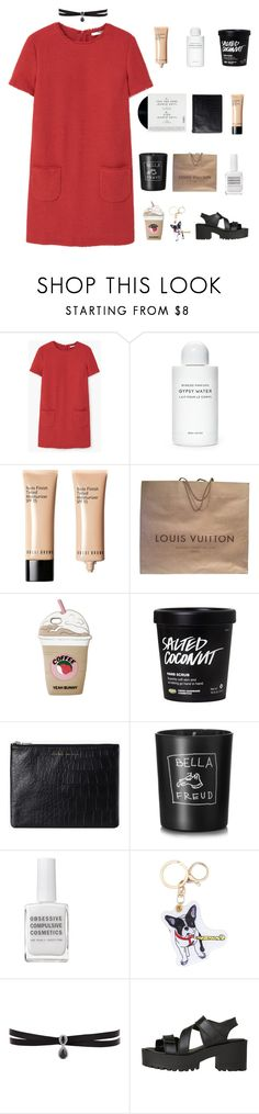 """FELL IN LOVE WITH AN ENGLISH MAN"" by everything-is-peachy ❤ liked on Polyvore featuring MANGO, Byredo, Bobbi Brown Cosmetics, Louis Vuitton, Status Anxiety, Bella Freud, Obsessive Compulsive Cosmetics, Fallon, Windsor Smith and leireyougottagged"