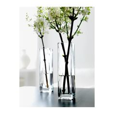 IKEA rektangle vases. I have some of these. Better find them and use them!