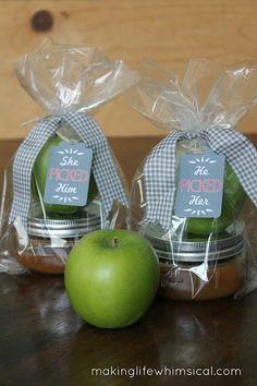 Cute idea for a wedding guest favor or wedding shower favor. www.makinglifewhimsical.com