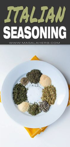Italian Seasoning Recipe - DIY homemade blend of dried herbs and spices to add amazing Italian flavors to your food! Easy and quick to prepare, ready within 5 minutes. This is a basic must-have Mediterranean recipe. www.MasalaHerb.com #Italian #seasoning #masalaherb