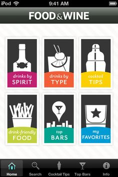 Food & Wine Cocktails Application by American Express Publishing