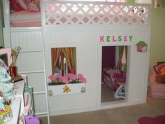Get plans for this Projet! Playhouse Loft Beds Homemade Project