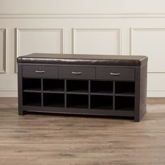 Found it at Wayfair - Chartreuse Wood Storage Entryway Bench