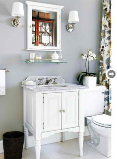 bathroom ideas. I'd like this for the basement bathroom, but black instead of white.
