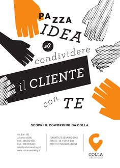 Creative Print Ads for Colla coworking.