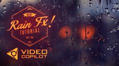 Tutorial: After Effects: Realistic Rain Drop FX - Video Copilot Adobe After Effects Tutorials, Effects Photoshop, Video Effects, Text Effects, Visual Effects, Moe Manga, Moe Anime, Vfx Tutorial, Photoshop Tutorial
