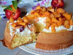 cheesecake soffice mascarpone e pesche