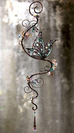 Wire Crafts, Bead Crafts, Jewelry Crafts, Wire Wrapped Jewelry, Wire Jewelry, Jewellery Box, Copper Jewelry, Boho Jewelry, Bridal Jewelry
