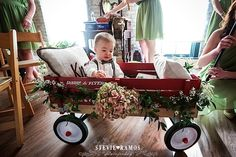 Stevie Ramos Photography, The Chicory - New Orleans Wedding, Ring Bearer Wagon