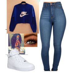 A fashion look from December 2015 featuring NIKE sneakers. Browse and shop related looks.