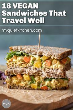 Cold Sandwiches, Vegan Sandwiches, Best Vegetarian Sandwiches, Vegan Sandwich Recipes, Vegetarian Recipes, Sandwich Ideas, Delicious Recipes, Healthy Recipes, Cilantro
